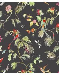 Paradijs Van Vogels Behang Zwart Kleur Designed For Living