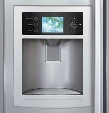 refrigerator with tv. lg lsc27990tt 26.2 cu. ft. side by refrigerator with hd ready lcd tv \u0026 weatherplus information center tv i