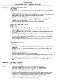 Testing Senior Analyst Resume Samples Velvet Jobs