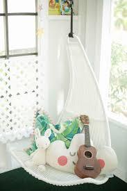 Spaces  toddler reading nook / Ikea Svinga hanging chair