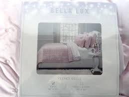 bella lux bedding new lux velvet quilt children collection pink twin kids room bed bella lux bella lux bedding