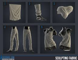 Shirt Folds Reference Sculpting Fabric Cg Cookie