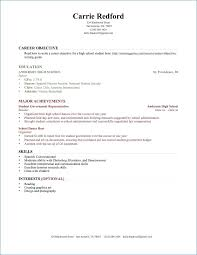 High School Resume No Work Experience Resume Layout Com