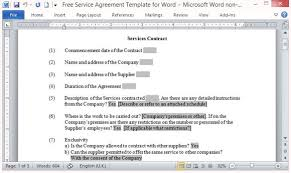 Service Contract Template Free Contract Template Free Service Agreement Template For Word