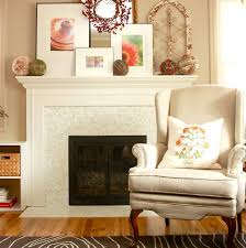 tile fireplace with modwalls brio white linen blend