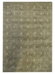 hand knotted gabbeh wool 8 x10 area rug solid green white l00501 getmyrugs com