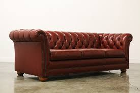 Vintage Tufted Leather Chesterfield Sofa Vintage Tufted Leather  Chesterfield Sofa ...