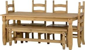 table 4 chairs and bench. corona 6\u0027 dining set with 5\u0027 bench and 4 chairs distressed waxed pine table i
