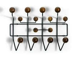 Eames Coat Rack Walnut Eames Hang it all wardrobe walnut Vitra 48
