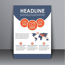 Advertisement Brochure Enchanting Template Flyers Brochures Reports Cover With Space For Images