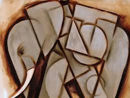 tommervik abstract cubism elephant painting