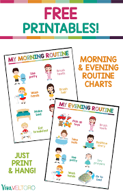 Kids Routine Chart Get Your Children On A Routine With Our Kids Daily Routine