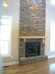 installing stacked stone veneer fireplace ed diy