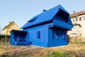 blue exterior paintAll blue house paint job fail  Home  Garden Do It Yourself