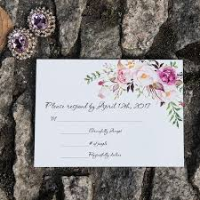 Response Card Envelope New Personalized Rsvp Card Response Card And Reception Card Customized Insert With Envelope 40th Wedding Anniversary Invitations Chinese Wedding