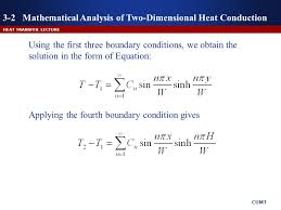 3 2 mathematical ysis of two dimensional heat conduction