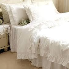 white ruffle duvet elegant white lace ruffle bedding white ruffle duvet cover bedding set white ruffle