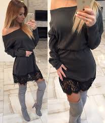 Com  Buy Sparkly High Neck Hollow Out Back Mini Feather Christmas Christmas Party Dresses Long Sleeve