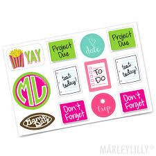 Back To School Agenda Sticker Sheet