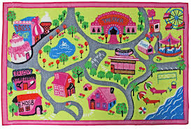 Amazon.com: J & M Home Fashions Kids Play Rug Educational Rug, Street Map,  40
