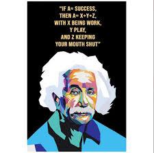 Success Posters Albert Einstein Motivational Quote Poster Motivational Posters