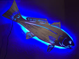 red fish wall art metal