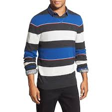 1901 Size Chart Nordstrom 1901 Nordstrom New Blue Mens Size Xl Crewneck Wool Striped Sweater