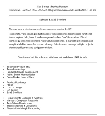 Financial Product Manager Sample Resume