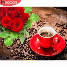 <b>HUACAN Full Square Diamond</b> Painting Coffee 5d DIY Diamond ...