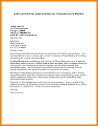 Financial Analyst Cover Letter Sample Senior Financial Analyst