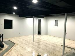 exposed ceiling lighting basement industrial black. Exposed Ceiling Lighting Basement Ideas Black Finishing Office . Industrial
