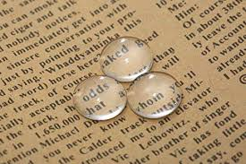 Dophee <b>50Pcs</b> Crystal <b>Clear Round</b> Cabochon Flat Back <b>Glass</b> ...