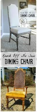 diy repurposed furniture. DIY Furniture Makeover, Redo, Chair Knock Off No Sew Dining Chairs Diy Repurposed
