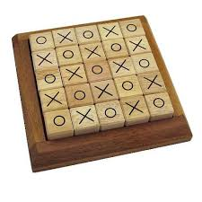 Wooden Strategy Games Mosaic Tic Tac Toe Wooden Strategy Game 25