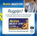 aleve select rugpijn