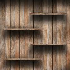 the length and weight of the shelves will determine if melamine or natural wood is a
