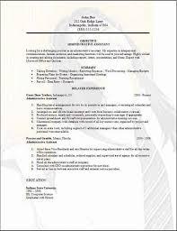 Resume Template For Administrative Assistant Free Dakovcircus Com