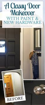 considering painting your interior doors black check out this diy door makeover the black