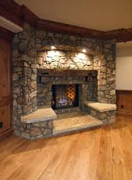 corner stone fireplace best 25 corner stone fireplace ideas on stone brilliant decorating design