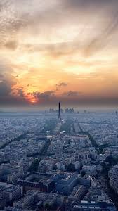 Amazing Ne41 Eiffel Tower Sky View Paris France Vacation Sunset