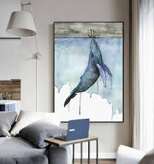 Marine Animals <b>Nordic Modern Simple Style</b> Whale Sailboat Poster ...