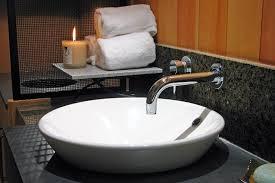 banff rocky mountain resort red earth spa bathroom