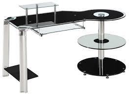tempered glass office desk. brilliantanduniqueglassdeskdesign tempered glass office desk