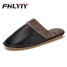 men indoor house slippers short plush flat fashion autumn winter slippers soft floor casual shoes zapatos de hombre men slipper combat boots moccasins from