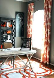 office curtain ideas. Orange Curtain Panels Home Office Curtains Ideas Stunning Bright Decorating Gallery In Rustic Design Decor For S