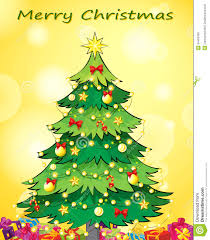 Designs For Christmas Cards Free A Christmas Card Template With A Green Christmas Tree Stock