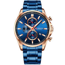 <b>CURREN</b> 8368 Blue Quartz Watches Sale, Price & Reviews | Gearbest