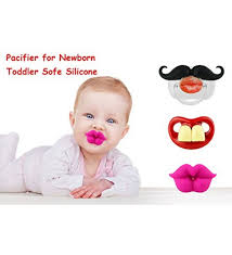 funny baby mustache pacifier cute baby