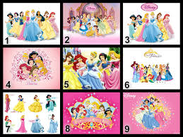Personalised Disney Princesses Edible Cake Topper Wafer Paper Icing