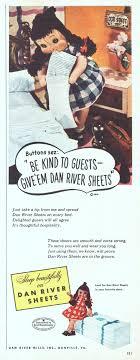 dan river sheets 1948 ad picture